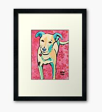 Zoe with Pink Pattern Framed Print