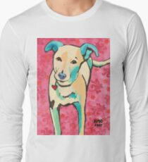 Zoe with Pink Pattern Long Sleeve T-Shirt
