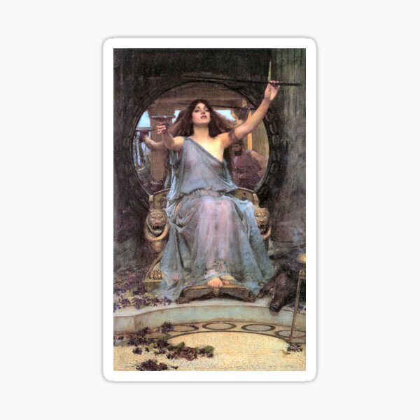 Circe Offering the Cup to Ulysses 1891 John William Waterhouse Sticker