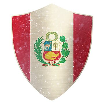 Peru Flag Shield by ockshirts