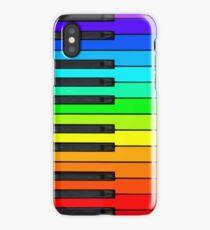 Rainbow Piano Keyboard  iPhone Case/Skin