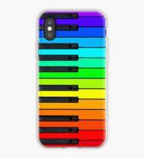 Vinilo o funda para iPhone Rainbow Piano Keyboard