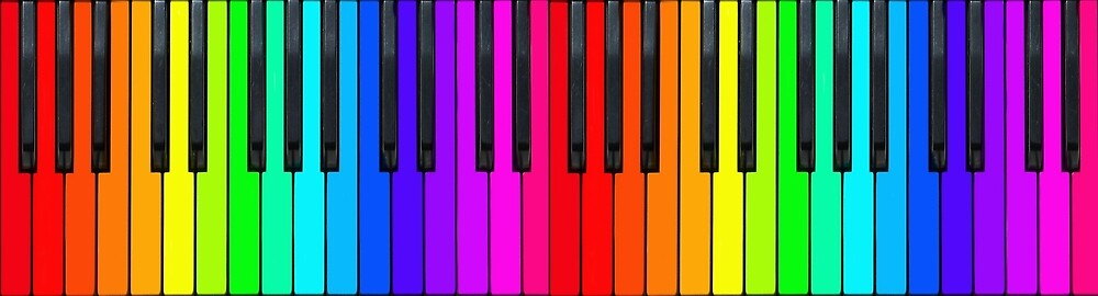 Quot rainbow piano keyboard quot by kitty bitty redbubble
