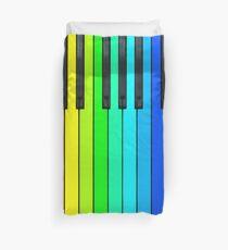 Rainbow Piano Keyboard  Duvet Cover