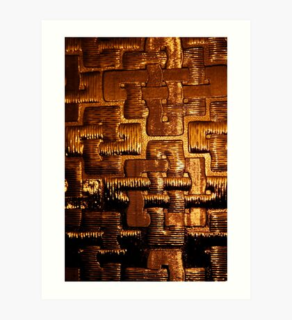 Golden Texture Art Print