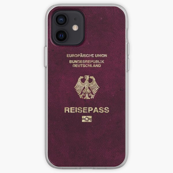 German Passport Vintage iPhone Soft Case