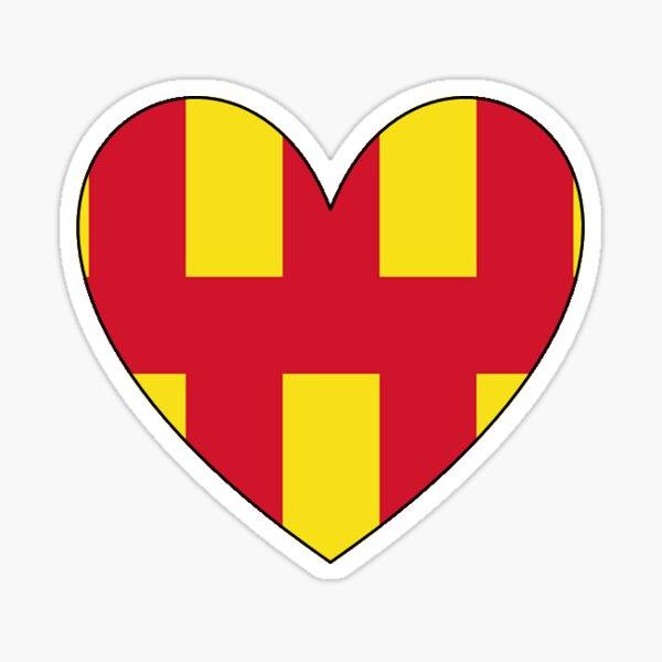 Northumberland heart  -small Sticker