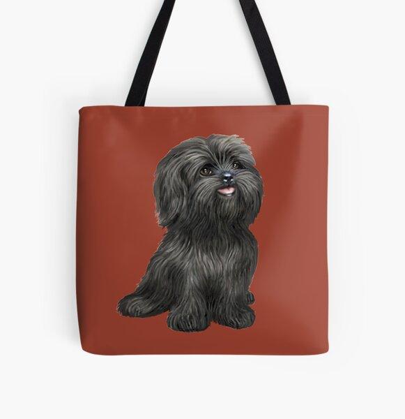 Shih Tzu - Black cutie All Over Print Tote Bag