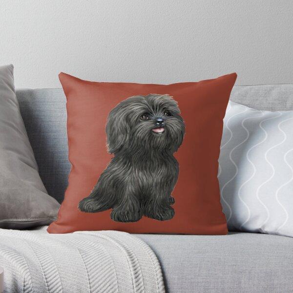 Shih Tzu - Black cutie Throw Pillow