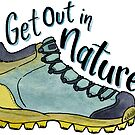 Get Out In Nature Hiking Boot by EverhardDesigns
