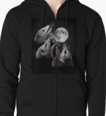 3 Opossum Moon Zipped Hoodie