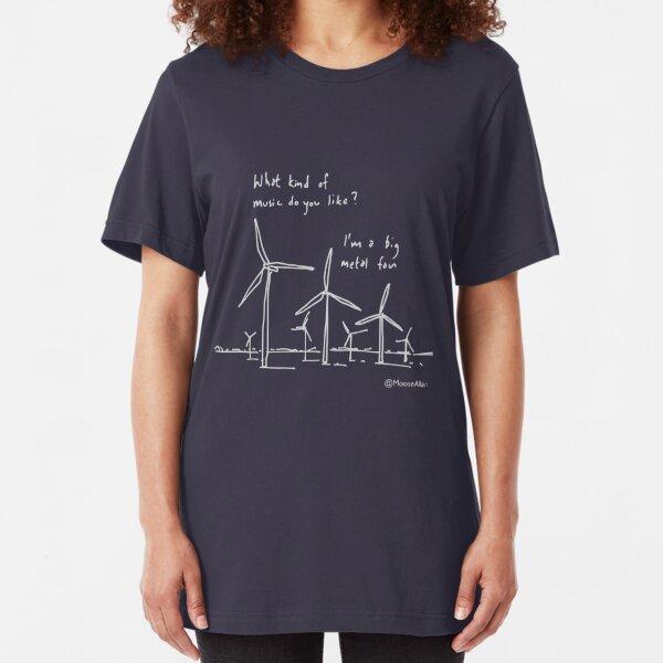 Metal Fan - pale print for dark t-shirts Slim Fit T-Shirt