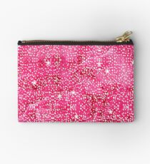 Bling Print, Star Cluster, Red Zipper Pouch