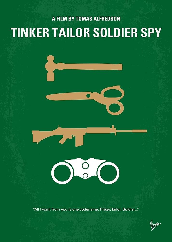 No787 Mein Tinker Tailor Soldier Spy minimales Filmplakat von ChungKong Art