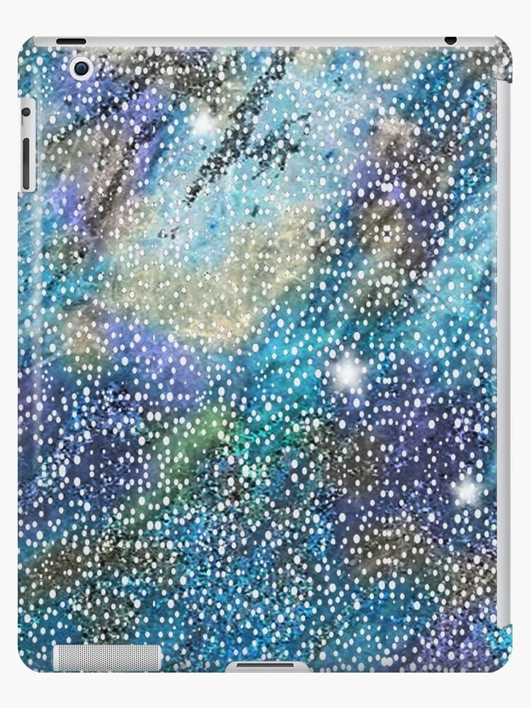 RB201, Bling Look Textiles, Fabrics, Bluish w/Stars by Melody Koert
