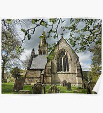 St Augustines church Alston . Poster