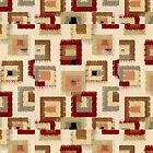 Art Illustrations , Geometric, Squares Quilt Fabric by Melody Koert