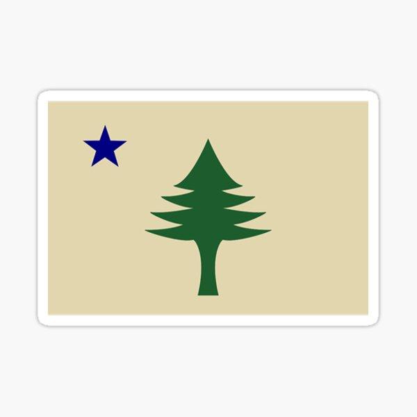 Maine State Flag (1901-1909) Sticker