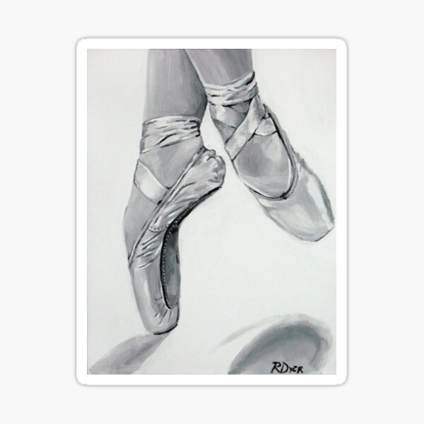 On Pointe Sticker