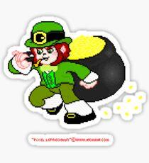 Pixel Leprechaun Sticker