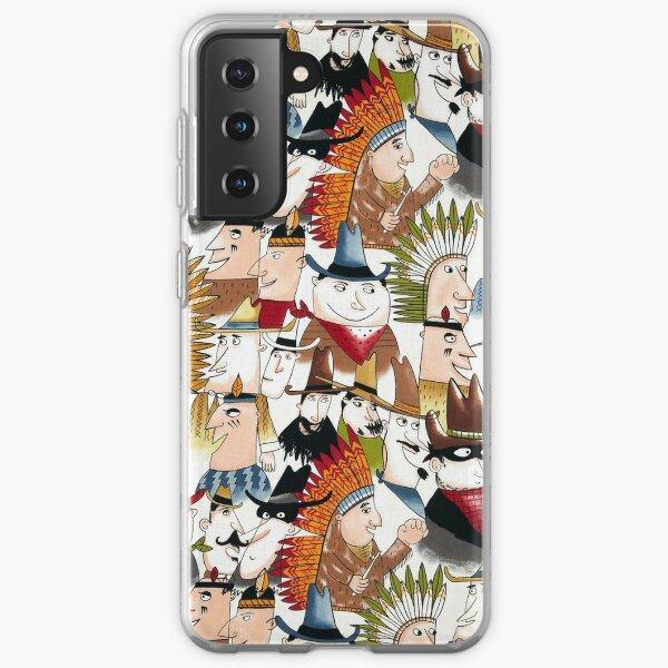 Western, Southwest, Cowboy Clipart Design Samsung Galaxy Soft Case