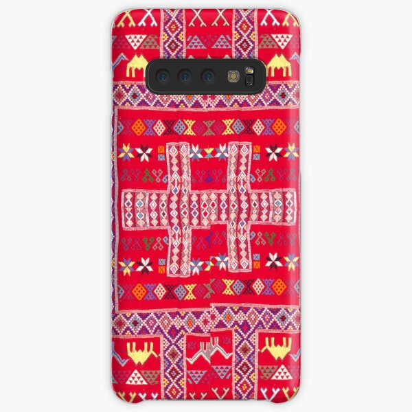 Tribal, Geometric, Bright Orange/Red Tapestry Style Samsung Galaxy Snap Case