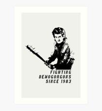 Steve Fighting (Fremde Dinge) Kunstdruck