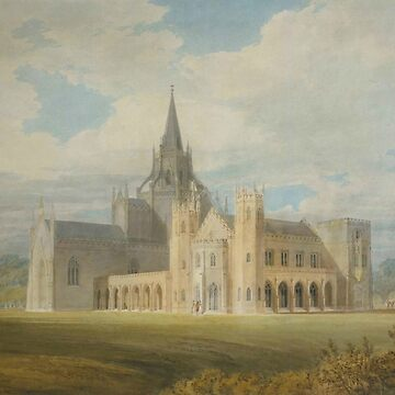 "Joseph Mallord William Turner ""Fonthill Abbey in Wiltshire, England from the south west"" by ALD1"