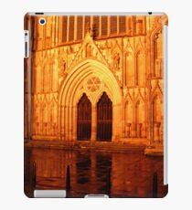 York Minster Portal by night iPad Case/Skin