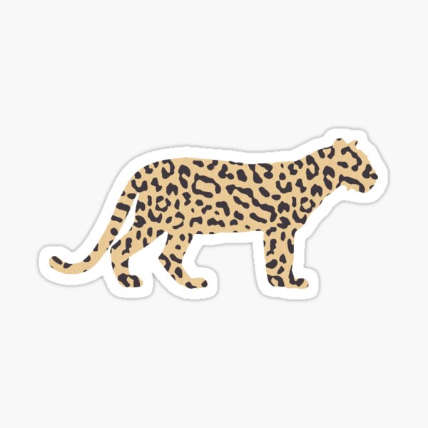 Safari Leopard Sticker