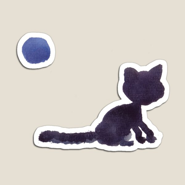 Blue cat Magnet