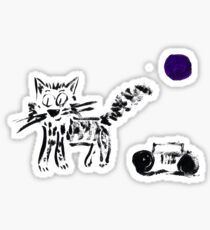 Radio Cat Sticker