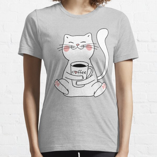 Cat and Coffee Essential T-Shirt