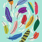Wirbelnde Federn von Jacqueline Hurd