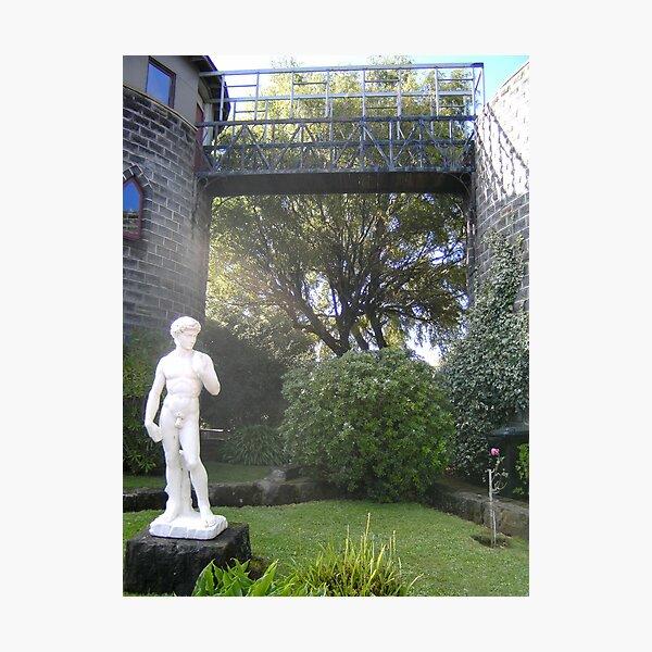 Kryal Castle - Ballarat (David statue) Photographic Print