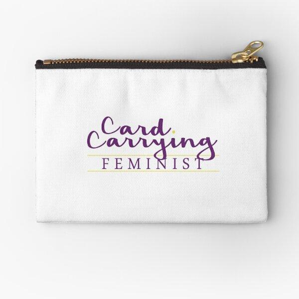 Card Carrying Feminist Zipper Pouch