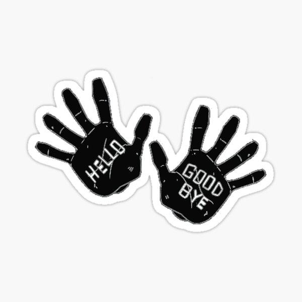 Hello Goodbye Klaus Number Four 4 The Umbrella Academy Netflix Sticker