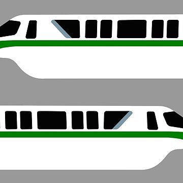 Minimal Monorail Green by FandomTrading
