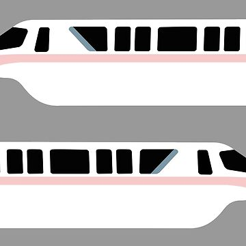 Minimal Monorail Millennial Pink by FandomTrading