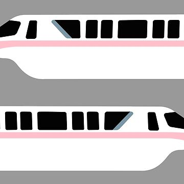Minimal Monorail Pink by FandomTrading