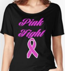 pink fight breast cancer  Women's Relaxed Fit T-Shirt