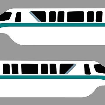 Minimal Monorail Teal by FandomTrading