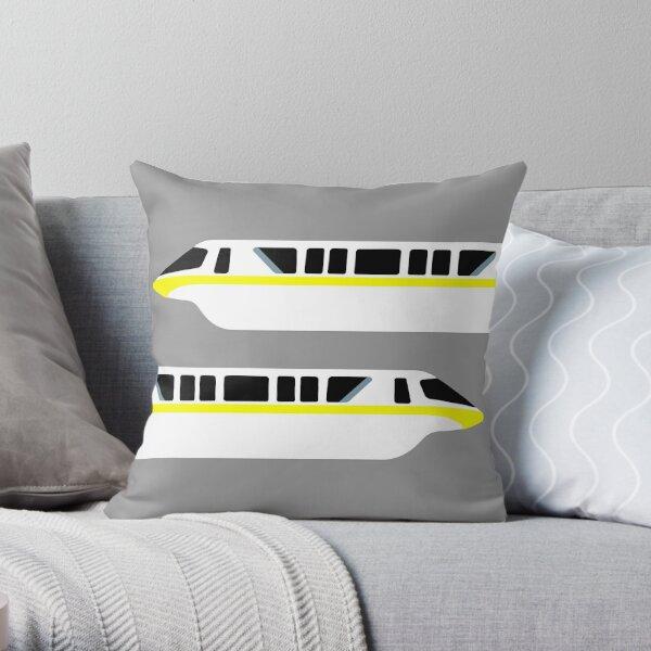 Minimal Monorail Yellow Throw Pillow
