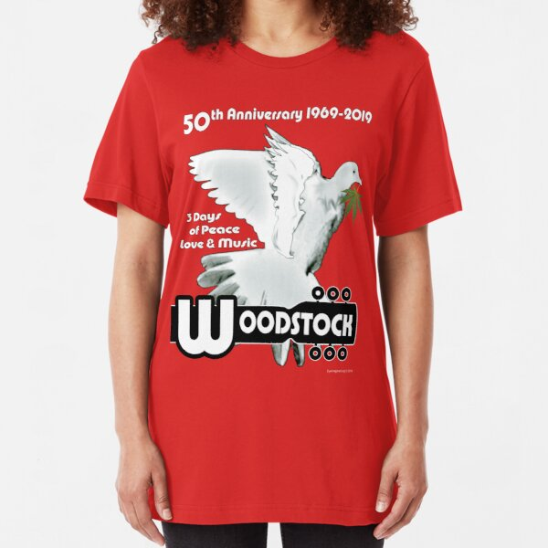 Woodstock: 3 Days of Peace, Love & Music Slim Fit T-Shirt