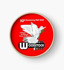Woodstock: 3 Days of Peace, Love & Music Clock