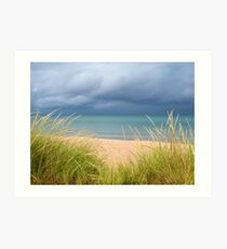 Glen Arbor Michigan - A photo of the beach and crystal clear lake in Michigan Art Print