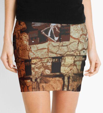 Dinosaurs in the Clocktower Mini Skirt