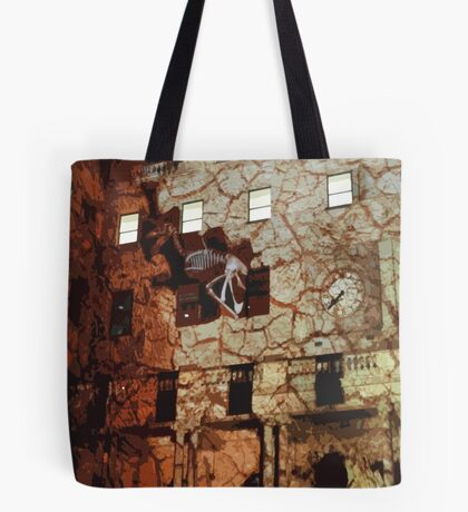 Dinosaurs in the Clocktower Tote Bag