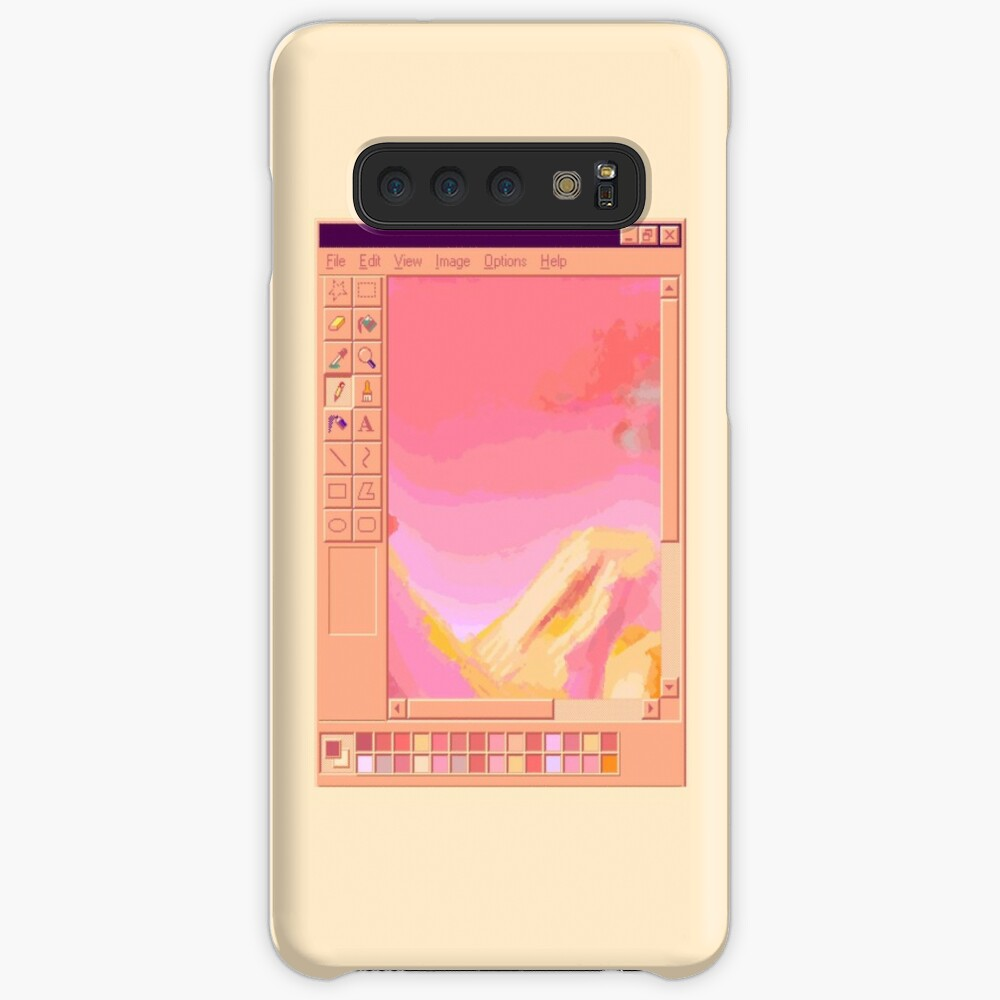Vaporwave MS Paint Pastel Mountains Case & Skin for Samsung Galaxy