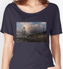 Sky Drama Around the London Eye Women's Relaxed Fit T-Shirt